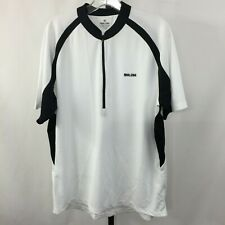 Mint Pearl Izumi Mens Xl White Black 1/2 Zip Active Cycling Running Shirt
