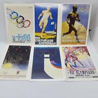 VINTAGE Postcards Olympics Mars Job Lot x 6 British Postally Unused 1991/1992