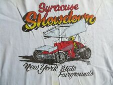 1981 Syracuse Showdown PA Posse World of Outlaws Sprint Car Shirt Large