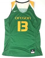 New Nike Women's M Oregon Ducks Basketball Hyperelite Jersey #13 Green $75