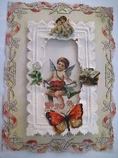 Vintage Victorian 1900s Valentine -Cupids, Butterfly I Think of Thee Book *