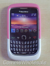 2x Genuine Blackberry ACC-32920-203 Pink/White Premium Skin 9330 8520 9300 Curve