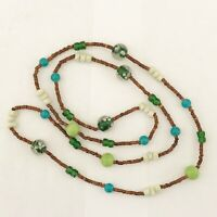 VINTAGE COSTUME  MULTI BAUBLE BEAD NECKLACE APPROX 100CM