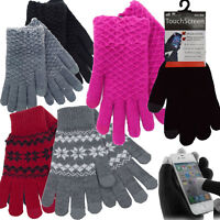 Mens Womens Warm Winter Lace Knitted Touch Screen Gloves For Phone iPhone iPad