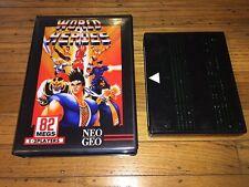 World Heroes (Neo-Geo MVS) SNK Game Cartridge in Shock Box Vr Nice!