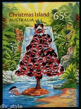 It's a Red Crab Christmas Tree! mint self-adhesive stamp 2015 Christmas Island