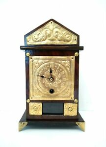 Seltene & schöne kl. antike Tischuhr alte Kaminuhr Pendule Clock Uhr um 1920