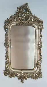 Baroque Mirror,Wall Mirror,Ornamental Mirror, Frame from Polystein, Silver