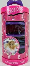 Vintage 1992 Barbie Doll Cylinder Wrap Pink & Purple Shelves Accessory Case VGC!