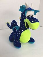 "Classic Toy Co. Plush Friendly Dragon Blue And Green 10"" Sparkle Sequins"