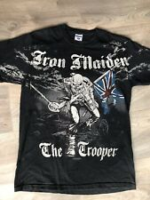 IRON MAIDEN THE TROOPER UNION JACK X LARGE T SHIRT RARE Black Grey Festival