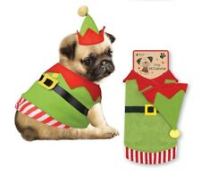 Christmas Elf Outfit for Dog Puppy Novelty Fancy Dress Coat & Hat Costume Xspelc Large 32cm Chest