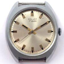 Vintage Soviet POLJOT WindUp watch Serviced USSR *US SELLER* #1013