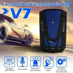 V7 Car Radar Detector 360 Degree Vehicle Speed Voice Alert Alarm Warning