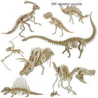 de juguetes DIY 3D Airplane Juego de puzzle de dinosaurio El coche de madera
