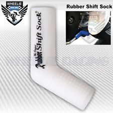 MOTORCYCLE SPORT BIKE SHIFTER SHIFT SOCK SHOES & BOOTS PROTECT SCUFF DIRT WHITE