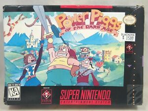 Power Piggs of the Dark Age (Super Nintendo | SNES) Authentic BOX ONLY