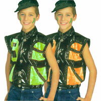 80er Jahre 50er 70er Weste Party Disko Kinder Kostüm Verkleidung