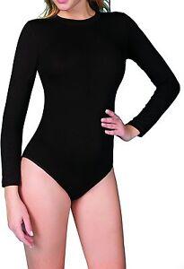 Damen Body- Langarm- Lycra Basic-  Baumwolle-MODAL -mit Druckknöpfen-9261