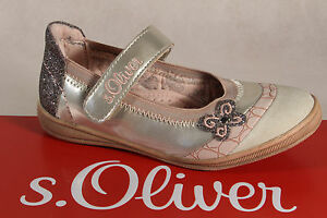 S.Oliver Ballerina Beige/Pink, Leather Insole New