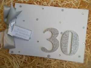 Glitter Personalised 30th Birthday Guest Book Scrapbook Memory Photo Album Gift