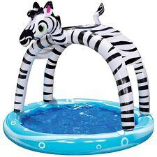 "Banzai Shade 'N Sun Zebra Swimming Pool for Kids (38182) 63""D x 55""H - BRAND NEW"