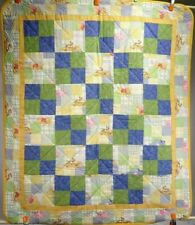 """New Handmade Baby Quilt / Wall Hanging / Winnie the Pooh & Friends 44 1/4"""" H"""