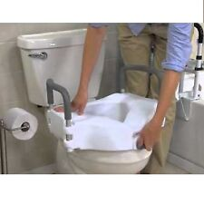 Raised Toilet Seat Lift 5in Height Riser Bath Safety Handicap w/ Removable Arms