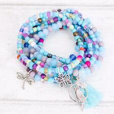 Jewellery Making Kit Elastic Stack Bracelets X7 Kids Ladies Craft Activity