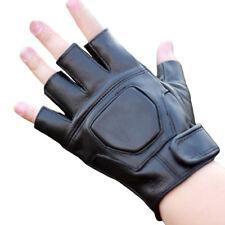 Real Leather Fingerless Glove Men Women Genuine Sheepskin Lambskin Driving Glove