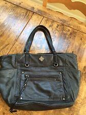 womens handbags and purses/Vera Wang Dark Black/green Leather Shoulder Bag