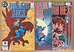 VINTAGE JONAH HEX #81 82 83 DC COMICS WESTERN 1ST SOLO SERIES MID-HIGH GRADE!!!