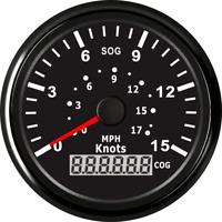 85mm Car Boat Digital GPS Speedometer Marine Odometer Speed Gauge 15Knots 17MPH