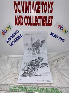 Vintage 1992 Tmnt Teenage Mutant Ninja Turtles Scratch Original Artwork Copies