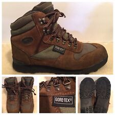 Vasque Alpha GTX Gore-Tex Men 9 US 7442 Suede Leather Hiking Boots Green Brown