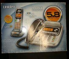 Uniden TRU9496 5.8 GHz 2 Lines Corded / Cordless Phone