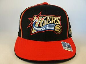 Infant Size Philadelphia 76ers NBA Reebok Fitted Hat Cap Black Red