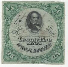 More details for 1871 united states 25 twenty five cents beer stamp | pennies2pounds