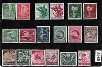 #6985 Small group MixedWWII Germany / All different / Used postage stamps