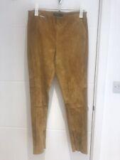 Ralph Lauren stretch Suede Leggings Size L Colour Tan perfect Condition