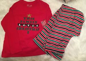 Jammies For Your Families 2 Piece Pajama Christmas Set Women's Size S NWT