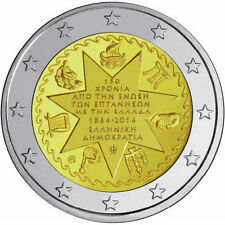 2 Euro 2014 UNC 150 Years from Unification of Ionian Islands BANK OF GREECE MINT