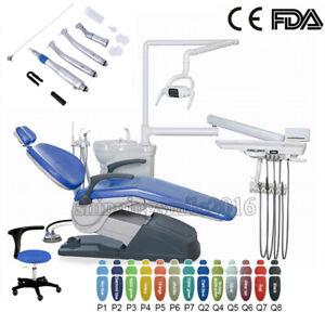 Dental Chair Leather Computer Controlled 110V/220V Unit +Handpiece Set Dentist