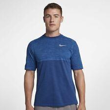 Nike Medalist Men's Short-Sleeve Running Top Xl Blue Gym T Shirt Training