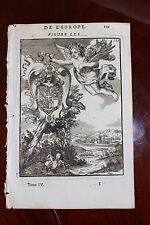 ✒ 1683 MANESSON MALLET blason armes armoires duc de Savoie Savoye