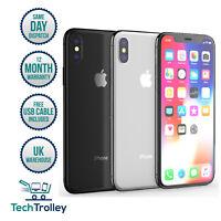 Apple iPhone X (iPhone 10) 64GB & 256GB Unlocked SIM Free 12 Month Warranty