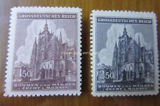 EBS Bohemia & Moravia Böhmen & Mähren 1944 St Vitus Cathedral Michel 140-1 MNH**