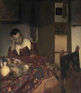 Johannes Vermeer A Maid Asleep Giclee Art Paper Print Poster Reproduction