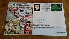 Signed MAJ. GEN. GEORGE BURNS - END OF THE WAR IN ITALY - WW2 COVER.