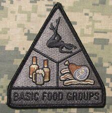 BASIC FOOD GROUPS USA ARMY MORALE BADGE ACU DARK HOOK PATCH